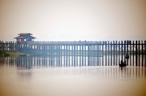 U Bein Bridge neďaleko Mandalay