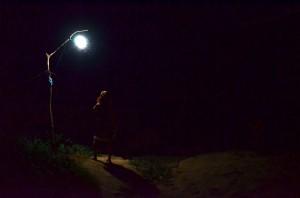 Breh Mekongu v noci