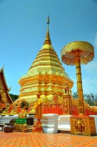 Wat Phran That Doi Suthep neďaleko Chang Mai.