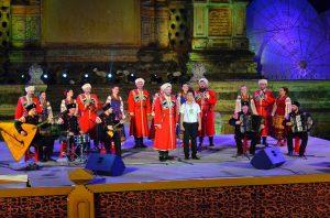 Ruskí kozáci a ich vystúpenie, za ktoré si vyslúžili standing ovation