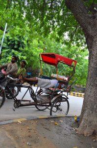 Ťažký život rikšáka.