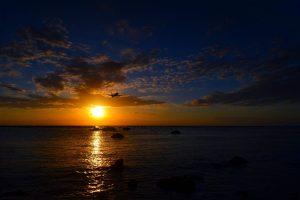 A takýto krásny pohľad na západ slnka.