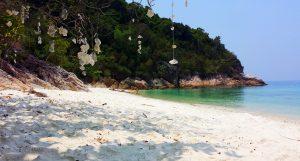 Panenské pláže na Perhentian Islands.